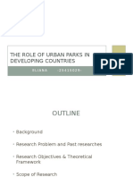 The Role of Urban Parks in Developing Countries