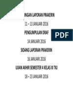 Kegiatan Kelas Xi Tkj Smk Bb Januari 2016