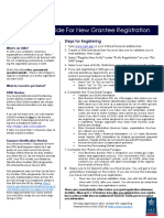 Quick Guide for Grants Registrations