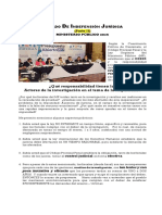 MINISTERIO PÚBLICO Y EL ESTADO DE INDEFENSIÓN JURÍDICA