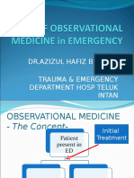 Role of Observational Medicine in Emergency