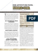 Shattered Star PFS Chronicle Sheets