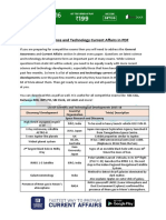 Latest Science and Technology Current Affairs in PDF