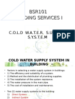 1. Cold Water Supply System