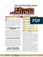 Rise of the Runelords PFS Chronicle Sheets