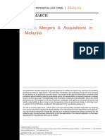 Public mergers & acquisitions in Malaysia
