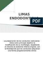 Limas Endodonticas 1ra Parte