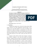 The Importance of Linguistics to EFL Teachers(1).pdf
