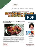 YUMMY TUMMY_ Chilli Chicken Recipe _ How to Make Restaurant Style Chilli Chicken Dry