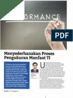 Menyederhanakan Proses Pengukuran Manfaat TI