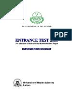 Information Booklet 2016