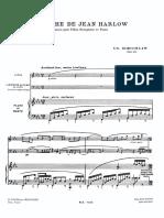 Epitaphe de Jean Harlow - Charles Koechlin (Piano Part)