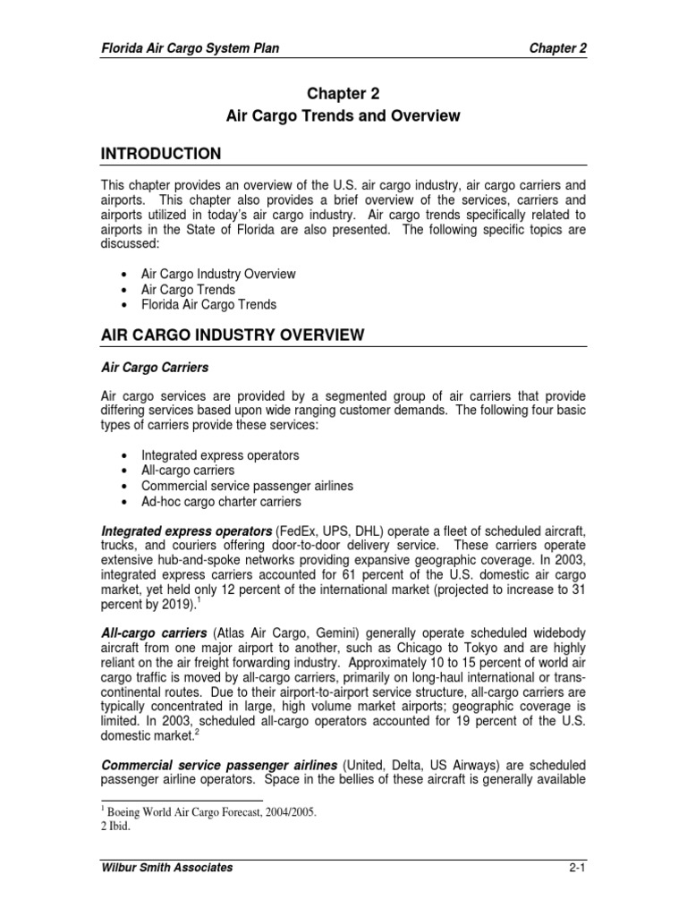 Ch 2-AirCargo Trends and Overview   Cargo   United States