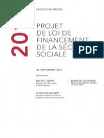 Dossier de Presse - PLFSS 2017