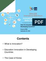 PARK Keynote Address Education and Innovation 16Sept