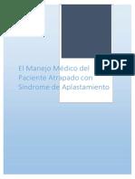 El Manejo Médico Del Paciente Atrapado Con Síndrome de Aplastamiento