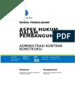 Modul Aspek Hukum Dalam Pembangunan [TM5]