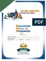 Evaluación Ece de 2do - MatemáticaRP2016