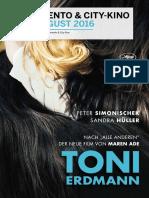 Programmzeitung für Moviemento & City-Kino Juli/August 2016