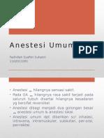 Referat Anestesi Umum - Dhila