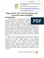 High Gain DC–DC Converter Based on the Cockcroft–Walton Multiplier