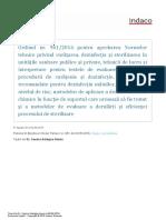 Ordinul Nr. 961-2016 Curatere, Dezinfectie