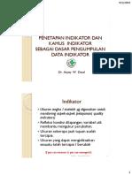 2. Penetapan Indikator Dan Kamus Indikator