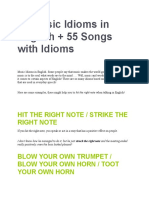 40 Music Idioms in English