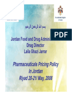 pharmaceutical pricing Jordan