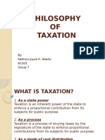 Philosophy of Taxation