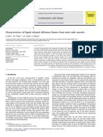 Characteristics of Liquid Ethanol Diffusion Flames From Mini Tube Nozzles