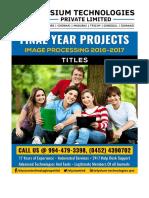 Elysium Technologies Digital Image Processing 2016-17 Titles