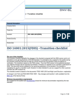 Transition Checklist - FDIS 14001