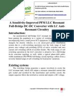 A Sensitivity-Improved PFM LLC Resonant Full-Bridge DC-DC Converter With LC Anti-Resonant Circuitry