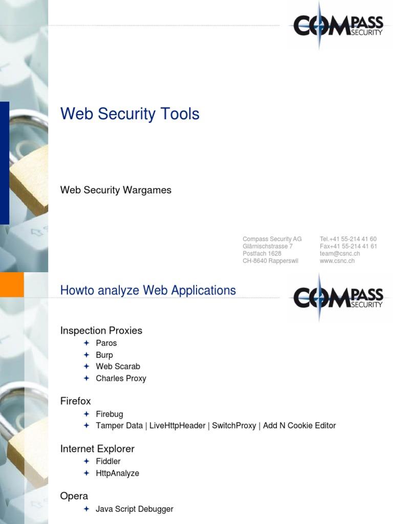 Web Security Testing Tools | Proxy Server | Hypertext