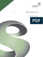 Saba Centra 7.6 Essentials Guide