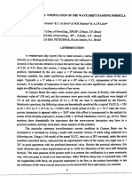 An Experimental Verification of the Wave Drift Damping Formula
