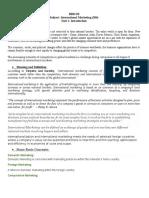 Unit I Introduction to International Marketing