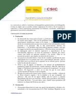Notas de presentación de originales y estilo del CSIC (2012)