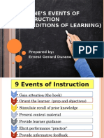 Gagne's Events of Instruction(Conditions of learning)