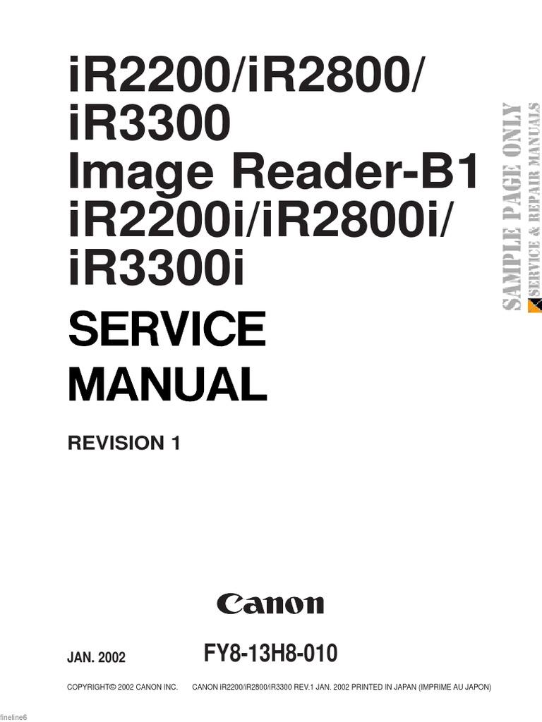 Canon Imagerunner Ir2200 Ir2800 Ir3300 Image Reader b1