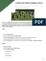 Proyectocoach.blogspot.com.Ar-planificación y Secuencia de Trabajo Semanal en Un Equipo de Fútbol