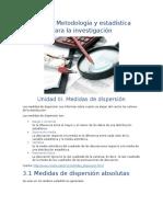 Unidad III. Metodologia y Estadistica Para La Investigacion