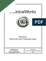 Eclinicalworks EMR Train the Trainer Client-Reseller Program