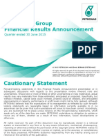 Financial Operational Report Second Quarter Ended 30 June 2015 (FY2015)