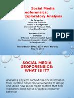 Social Media Geoforensics Banerjee Sultan EMAC2016