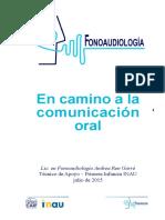En Camino a La Comunicación Oral Fonoaudiología