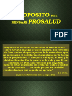 Proposito Del Mensaje Prosalud