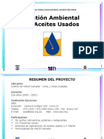 Gestion ambiental aceites