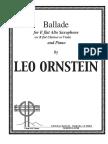 (sax alto-clarinete-viola+piano) Ornstein, Leo - Saxophone Ballade (parte de piano y saxofón)